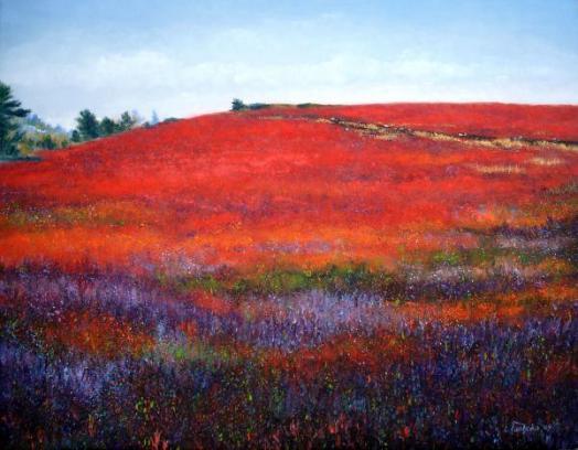 Painting: Fall Blueberries by Laura Tasheiko